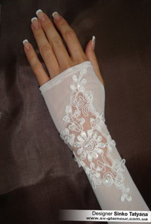 Свадебные перчатки ПД-4