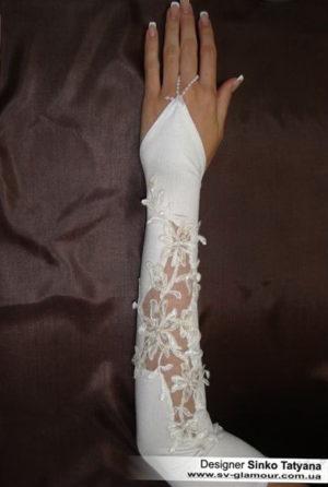 Свадебные перчатки ПД-8