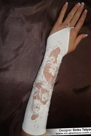 Свадебные перчатки ПК-16