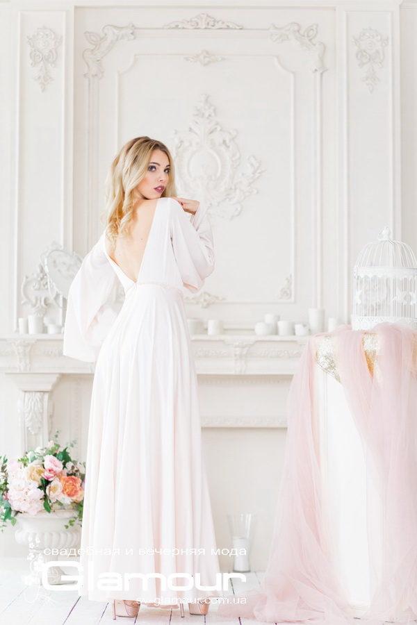 Свадебное платья из шелка, стиль бохо