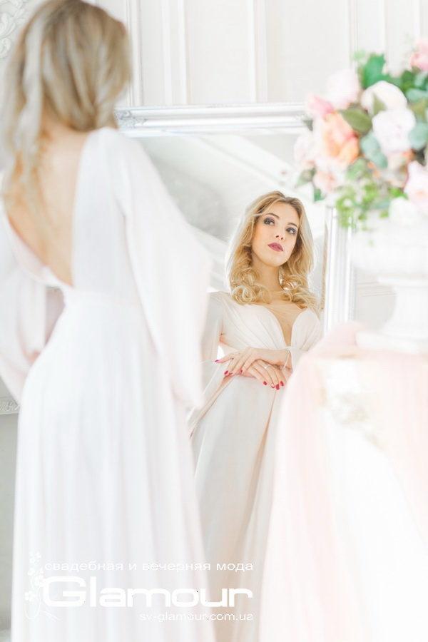 Свадебное платье айвори в стиле бохо, хиппи 2019