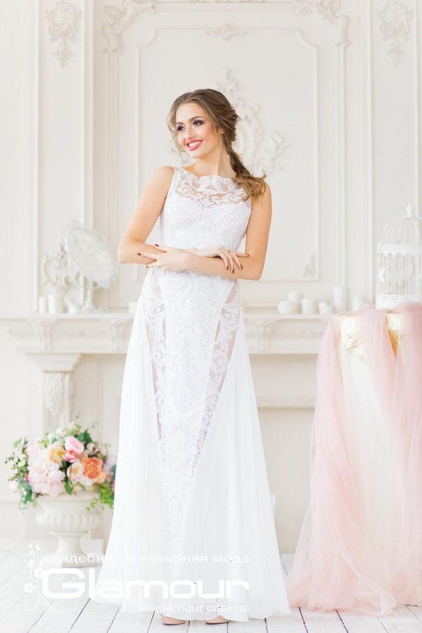 Свадебное платье айвори. Легкий шифон в сочетании с кружевом - прекрасный образ для летней невесты!