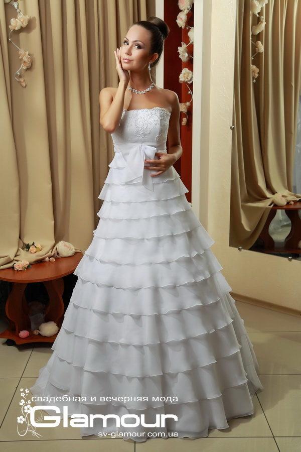 свадебное платье с рюшами.Скидка.Акция.