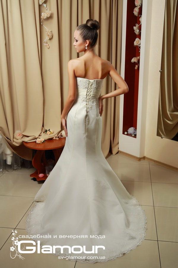 Роскошное свадебное платье рыбка цвета айвори. Скидки. Акции.