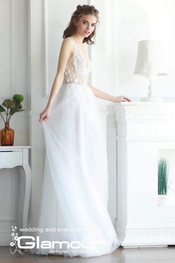 Свадебное платье длинное стиль Ампир