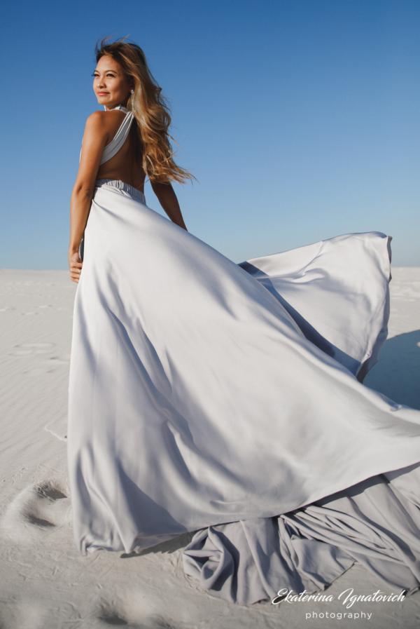 Вечернее длинное платье трансформер